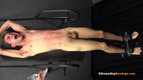 DADDY MAKES YOUNG BOUND TEEN BOY CUM 4 TIMES WHILE WHIPPED & BEATEN – BDSM Gay Bondage